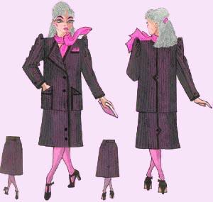 Эскиз деловой одежды