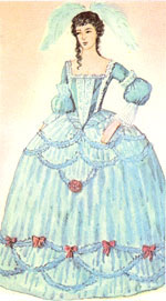 Женские платья в конце 18 века