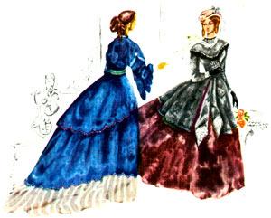 Костюм XIX века