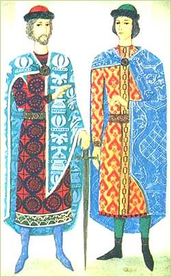 Как выглядел национальный костюм жителей киевской руси?