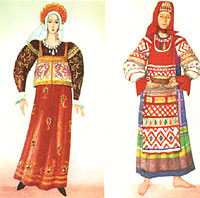 Русский народный крестьянский костюм